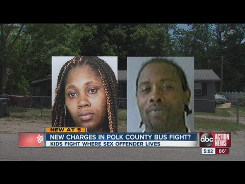 Bus driver encouraged students to fight at home of sex offender