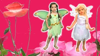 getlinkyoutube.com-Disney Frozen ELSA AND ANNA BECOME FAIRIES! Real Life Princess Movie Videos + Dress Up Costumes!