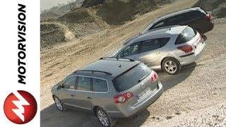 getlinkyoutube.com-VW Passat Variant vs. Peugeot 407 SW vs. Toyota Avensis Comb