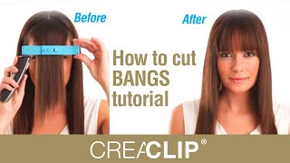 getlinkyoutube.com-How to cut BANGS tutorial -Straight, textured and Side swept bangs