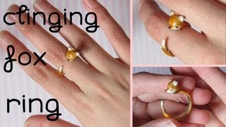 "Clinging Fox Ring Tutorial: Polymer Clay ""Illusion"" Ring."