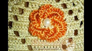 getlinkyoutube.com-طريقة عمل الوردة بالطرز البرازيلي في الكوزة / Embroidery / Brazilien