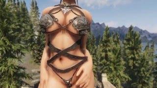 getlinkyoutube.com-Armor for Skyrim - Wolf Bikini Armor UUNP
