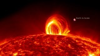 getlinkyoutube.com-NASA | Fiery Looping Rain on the Sun