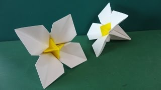 "getlinkyoutube.com-花「水仙」折り紙Flower ""narcissus"" origami"