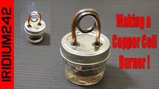 getlinkyoutube.com-Build Your Own Copper Coil Alcohol Burner Stove!