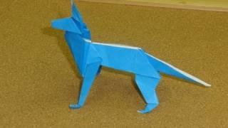 getlinkyoutube.com-Daily Origami:  124 - Old School Origami - Shepherd Dog