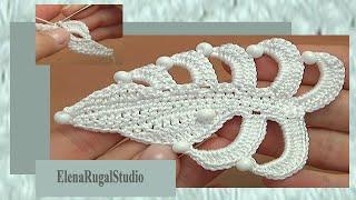 getlinkyoutube.com-Crochet  Asymmetrical Double Sided Flat Leaf Tutorial 35