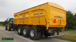 Stronga BulkLoada 800 2WT agricultural trailer – High capacity tri-axle harvest trailer