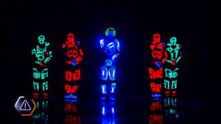 getlinkyoutube.com-Dance show led, bailarines Light Balance Neon shows Ukraine team dancers in neon suits in LED new