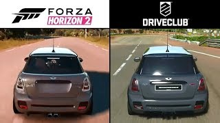 DriveClub (PS4) vs. Forza Horizon 2 (Xbox One) Gameplay Graphics Comparison Video Review