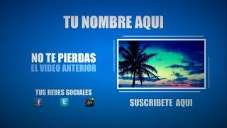 (FREE) #1 Outro Template - Sony Vegas Pro 11,12,13 con Tutorial