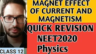 Magnetic effects of current and magnetism FAST REVISION NOTES FOR NEET 2018 PHYSICS  PART 1