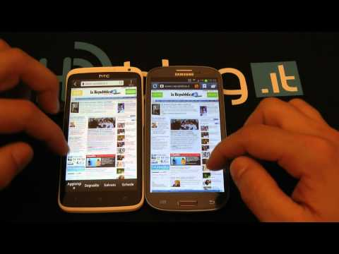 Samsung Galaxy S3 vs HTC One X confronto completo by HDblog
