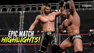 getlinkyoutube.com-WWE 2K15 Extreme Rules 2015 Seth Rollins vs Randy Orton | Epic Match Highlights!