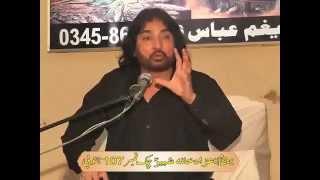 Allama Zulfqar Haidar Naqvi 9th yadgar  Majlis Ashra muharam 2014 chak 107 sb Sargodha