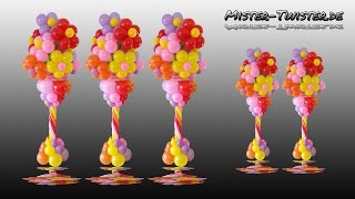 getlinkyoutube.com-Balloon Flower Column, Vase, Decoration, Ballon Blume, Blumenvase, Säule, Dekoration