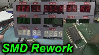 getlinkyoutube.com-EEVblog #688 - How To Rework Solder SMD Chips - BTTF Time Circuits Repair!
