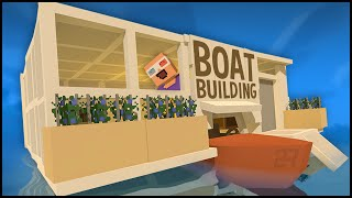 getlinkyoutube.com-Unturned 3.0 Building - CUSTOM HOUSE BOAT BASE!