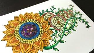 getlinkyoutube.com-How to draw botanical drawing #7 ~ colored ver. ~