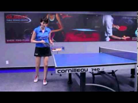 Beautiful Girl sexyPractices Table Tenis wanita cantik seksi bermain pingpong