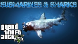 getlinkyoutube.com-Grand Theft Auto V Challenges | SUBMARINES & SHARKS UNDERWATER ADVENTURES | PS3 HD Gameplay