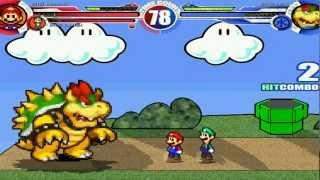 getlinkyoutube.com-BIS Mario & BIS Luigi vs Bowser MUGEN Battle!!!