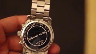 getlinkyoutube.com-How to change Michael Kors MK 8086 Watch Battery