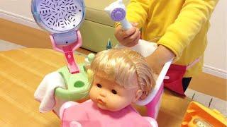 getlinkyoutube.com-Nenuco Magic Hairdresser / ネヌコ 人形 びようしつ おもちゃセット