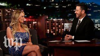 Stormy Daniels dodges Jimmy Kimmel's questions about Trump