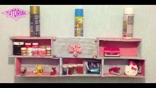 getlinkyoutube.com-DIY: Crea una REPISA con cajas de zapatos para organizar tu cuarto - Antifacita :3
