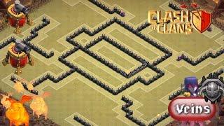 getlinkyoutube.com-Clash Of Clans INSANE TH 9 War Base + 2 Air Sweepers - Veins