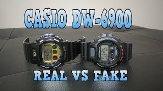 getlinkyoutube.com-Casio G-Shock DW-6900 Real vs Fake
