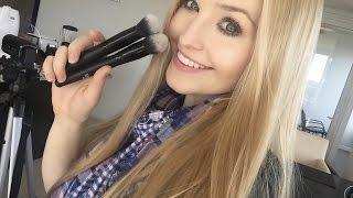 getlinkyoutube.com-ELF Cosmetics - Selfie Ready Foundation & Powder Blurring Brushes Review!