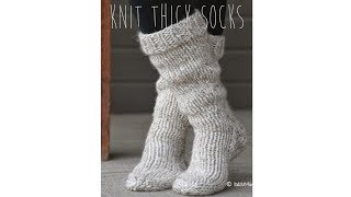 getlinkyoutube.com-KNITTING TUTORIAL - FAST & EASY THICK SOCKS