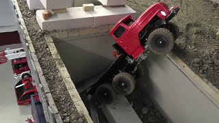 getlinkyoutube.com-RC  ACCIDENT ON THE RC CARRARA MINE , RC UNFALL URAL 6x6