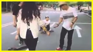 getlinkyoutube.com-Original Viral Video Dope Korean Longboard Girl (Hyo Joo)