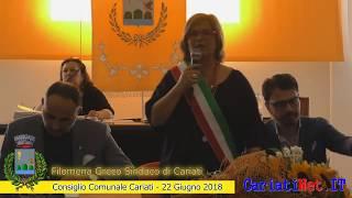 Consiglio Comunale Cariati 22 giugno 2018   FILOMENA GRECO giuramento e discorso