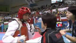 getlinkyoutube.com-Ana Zaninovic (CRO) v Lee Hye-Young (KOR) | 2011 World Taekwondo Champs