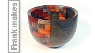 getlinkyoutube.com-Woodturning A Segmented Walnut Bowl