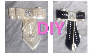 Como hacer un bow tie Bow brooch  diy