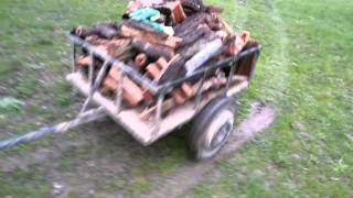 getlinkyoutube.com-Atv kazuma 150cc cu remorcă