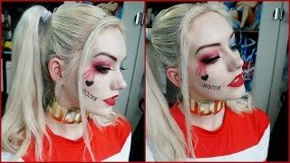 getlinkyoutube.com-Harley Quinn Makeup | Suicide Squad | DaisCosplay