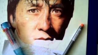 getlinkyoutube.com-BALLPOINT PEN DRAWING jackie chan BY: ARTHUR T. CORTEZ  (drawing tutorial)
