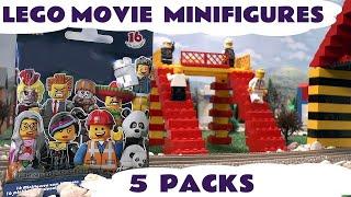 getlinkyoutube.com-Thomas & Friends Kids LEGO MOVIE MINIFIGURES! 5 Blind bags opened helped by Thomas The Tank Engine
