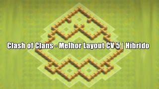 getlinkyoutube.com-Clash of Clans - Melhor Layout CV 5 | Híbrido