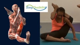 getlinkyoutube.com-How to Eka pada sirsasana Yoga Pose Eka Pada Sirshasana Muscle Anatomy EasyFlexibility