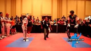getlinkyoutube.com-Justin Ortiz v Raymond Daniels - Men's Sparring Grand Championship - 2014 Battle of Atlanta