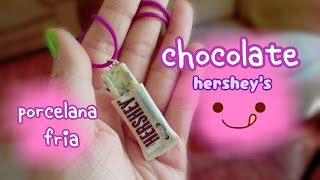 getlinkyoutube.com-Chocolate hershey's 🍫PORCELANA FRIA