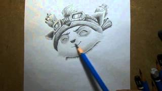 getlinkyoutube.com-Pencil Drawing : Teemo